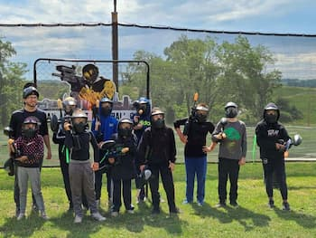 paintball players on field near pittsburgh